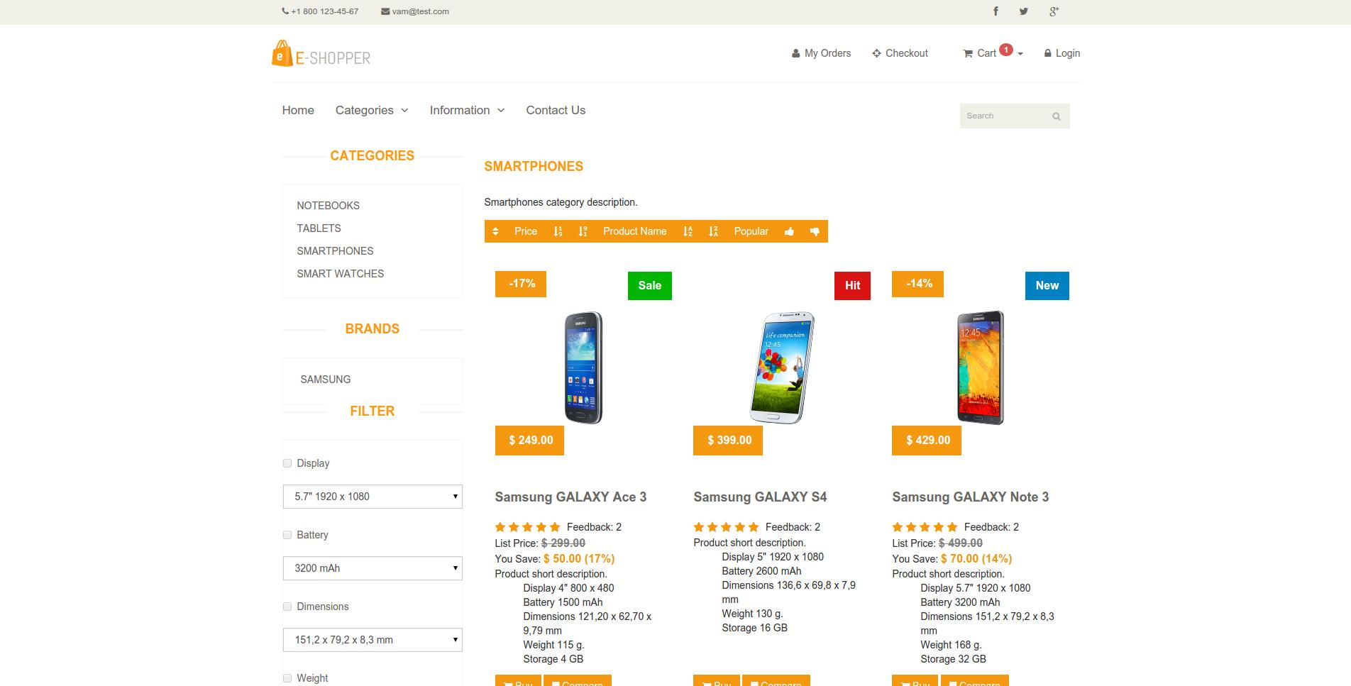 1 использование стандартных шаблонов vam shop во-первых, на официальном сайте есть раздел